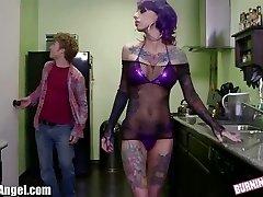 BurningAngel Emo Stripper gets Pussy Drilling