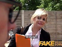 Fake Driving School Posh busty blonde examiner fucks