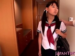Japanese schoolgirl Airi Sato nailed by old male