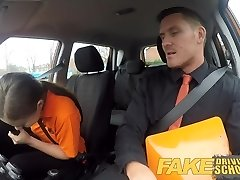 Fake Driving School Backseat fellatios and deep internal ejaculation