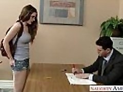 Killer coed in glasses Molly Jane drill in classroom