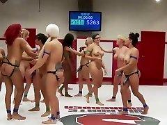 Ultimate Lesbian Wrestling Gang-fuck