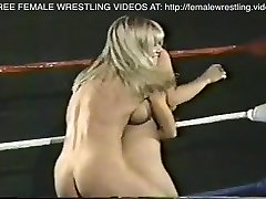 Lovely lesbos real tits wrestling match