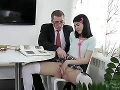 Tricky Senior Lecturer -  Jody played with her pussy