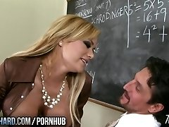 Hot milf fucks teacher