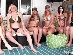 Vicky Vette's Neighborhood Orgy! 6 Femmes!