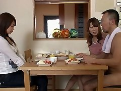 Two guys and two damsels gets bare in the living room