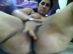 Floppy tits indian woman strokes