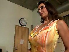 Best pornstars Persia Monir and Bonnie Skye in best black-haired, masturbation gonzo scene