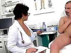 Dirty czech milf Gabina is naughty doctor in cfnm act