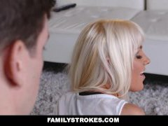 FamilyStrokes - Hot Blonde Cougar Stretched Out & Screwed