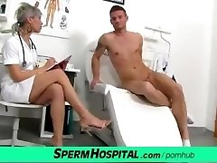 CFNM knob medical exam with splendid Czech MILF doctor Beate