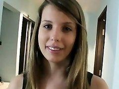 Huge boobs brunette teen gal Hanna Heartley cum swallows
