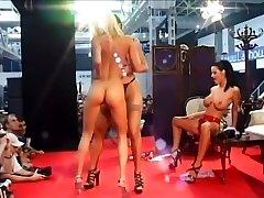 3 Nasty Chicks Grind Naked On Stage