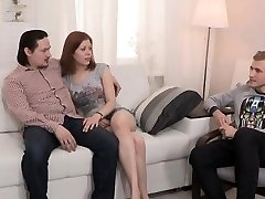 Skint boyfriend lets naughty homie to ride his girlfriend for money