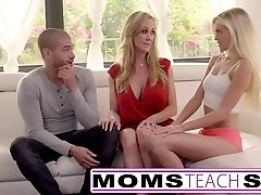 Moms Teach Orgy - Big tit mummy catches daughter