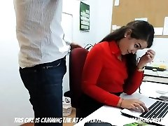 The Slutty Secretary At Work...