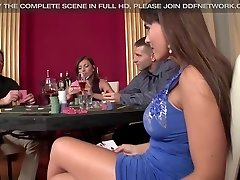 2 casino Prostitutes get Double Penetrated and Gag on man-meat