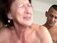 Grandmother, saggy and passionate