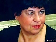 Fabulous granny gets fucked in restaurant