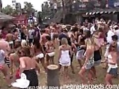 partying with their jugs out on south padre beach