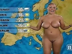Naked Weather Girl
