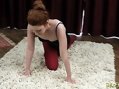 flexible redhead contortion nubile