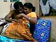 Aunty with her devor, together lovin' Getting Porked After Strenuous Boobs Sucking - Wowmoyback