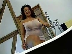 British Busty MILF gets smashed in the shower
