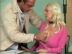 Busty German Mature Banging in Office