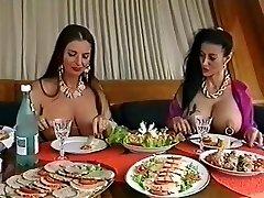 Two huge-titted pierced sluts having fun