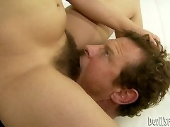 Brown-haired hussy Viola Starr gets her hairy snatch ate