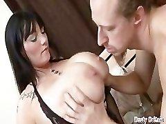 Hefty Tits BBW Simone Gets Melons & Vag Fucked