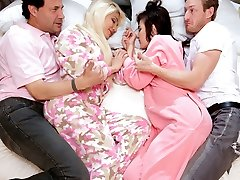 Elizabeth And Jenna in The Sleepover Change-Up - TeamSkeet