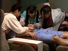 Crazy Asian damsel Mamiru Momone, Mina Yoshii in Incredible Finger-tickling, Facial JAV video