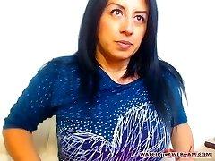 Hot Latin cougar hot creampie on webcam
