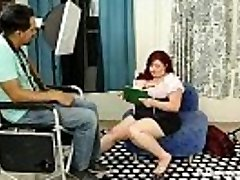 Busty Plus-size Model auditions for Calendar and Fucks Director