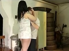 Chubby ebony haired getting nailed