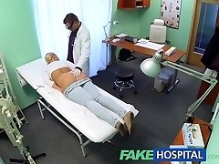 FakeHospital Platinum-blonde with big hooters wants to be a nurse