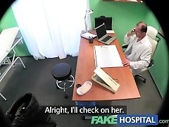 FakeHospital Horny busty blonde receives a creampie from the doc