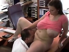 Huge mounds bouncing in the office