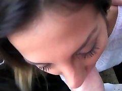 Hot Romanian girl in backseat oral job