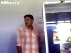 South indian office lady show boobs to co-employees