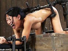 Tia Ling in Tia LingSuch a lil butt, such a xxl machine cock! - DeviceBondage