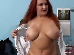 Mature Redhead with Xxl Boobs gets Scammed by Physician