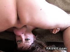 Spanish babe licks ass and deep throats uk agent