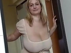 Fabulous homemade Monstrous Tits, Blonde hard-core video