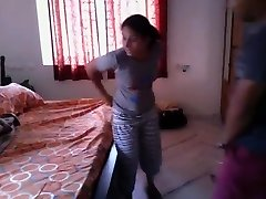 Hot Bengali girl quickie pound with neighobour in her room