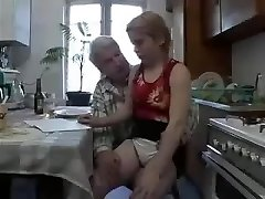 Grandpa loves fucking her cock-squeezing furry college girl cunt !