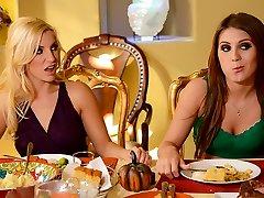 Ashley Fires & JoJo Kiss & Levi Cash in Thanksgiving Fuckfeast - Brazzers